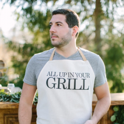 All Up In Your Grill Men's Apron