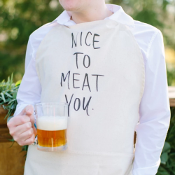 Nice To Meat You Men's Apron
