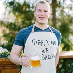 There's No We In Bacon Men's Apron
