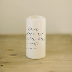 Anchor For My Soul Verse Candle