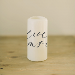 Live Simply Candle