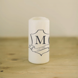 Personalized Crest Candle