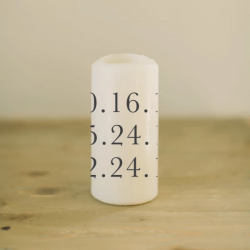 Personalized Date Candle