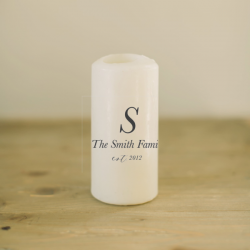Personalized Family Name and Year Candle