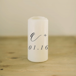 Personalized Initials and Special Date Candle