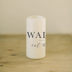 Personalized Last Name Candle