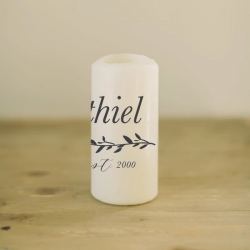 Personalized Last Name with Laurel Candle