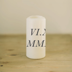 Personalized Roman Numeral Candle