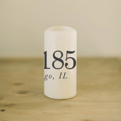 Personalized Zip Code Candle