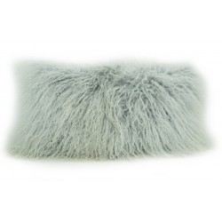 Ash Grey Tibetan Lamb - Pillow