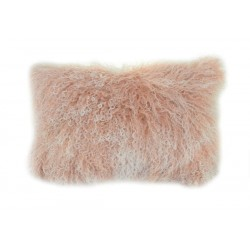 Blush Tipped Tibetan Lamb - Pillow