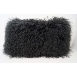 Charcoal Tibetan Lamb - Pillow