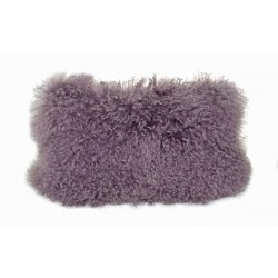 Mauve Tibetan Lamb - Pillow