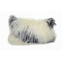 Natural Tibetan Lamb Black and White - Pillow