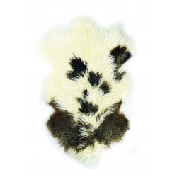 Natural Tibetan Lamb Brown and White - Pelt
