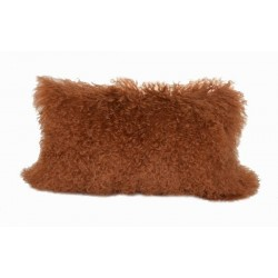 Rust Tibetan Lamb - Pillow
