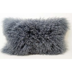 Steel Grey Tibetan Lamb - Pillow