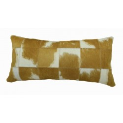 Cowhide Patchwork Pillows - Brown And White