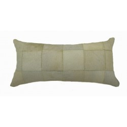 Cowhide Patchwork Pillows - Ivory