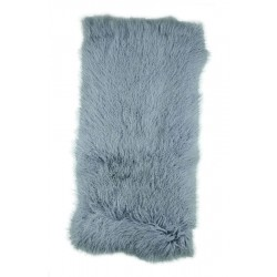 Ash Grey Tibetan Lamb - Throw