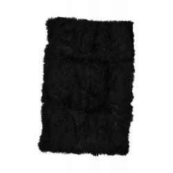 Black Tibetan Lamb - Throw