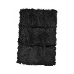 Charcoal Tibetan Lamb - Throw