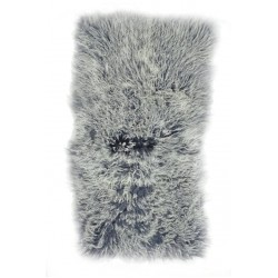 Grey Tipped Tibetan Lamb - Throw