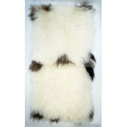 Natural Tibetan Lamb Brown and White - Throw