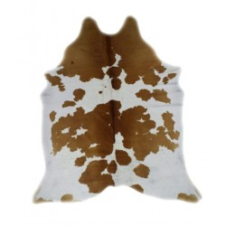 Brown and White Cloudy Cowhide
