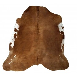Brown with White Flanks Cowhide