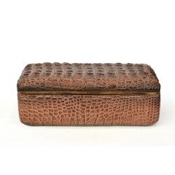 Faux Croc Skin Textured Box