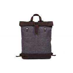 Waxed Canvas Backpack with Leather Accents, Waterproof Canvas Travel Backpack, School Backpack MC16950