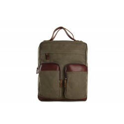 MOSHI WHOLESALE CANVAS LEATHER BACKPACK, WAXED CANVAS CASUAL BACKPACK SCHOOL BACKPACK 12029