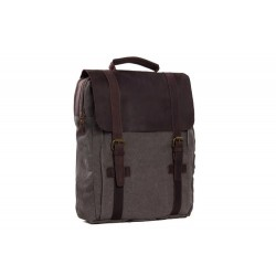 MOSHI HOT SALE CANVAS LEATHER BACKPACK, WAXED CANVAS BACKPACK SCHOOL BACKPACK 1820