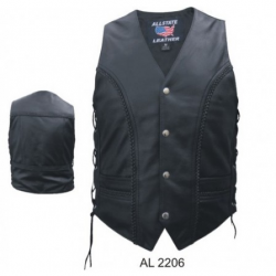 MEN'S BRAIDED VEST WITH SIDE LACES- AL2206