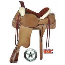 """All Around Roper 16"""" seat with Rawhide accents"""
