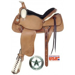 """All Around Deluxe Roper 16"""" seat with Rawhide accents"""