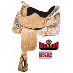 Big Horn A00891 Show Saddle with Silver