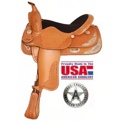 """American Saddlery Spotted Show in 15"""" and 16"""" seats"""