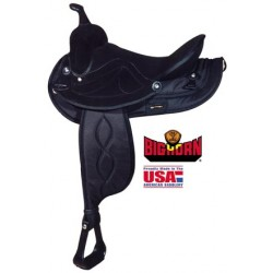 "Big Horn Black saddle in seats 12"" through 17"""