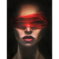 Red Blindfolded Woman Gallery Wrap