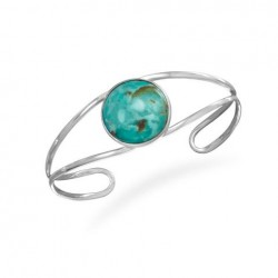 Open Band Cuff with Turquoise