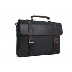 CANVAS LEATHER BAG BRIEFCASE BAG MESSENGER BAG SHOULDER BAG LAPTOP BAG 1870