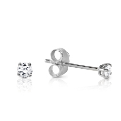 0.1 Carat 14K Solid White Gold Stud Earrings 0.10 Carat Natural Diamond
