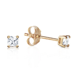 0.25 Carat 14K Solid Yellow Gold Stud Earrings 0.25 Carat Natural Diamond