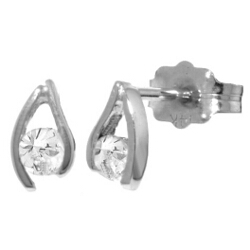 0.2 Carat 14K Solid White Gold Drift Into Vision Diamond Earrings