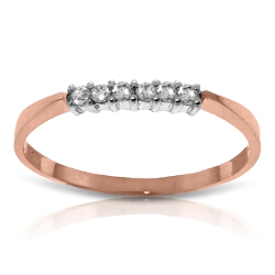 0.1 Carat 14K Solid Rose Gold Ring Natural Diamond