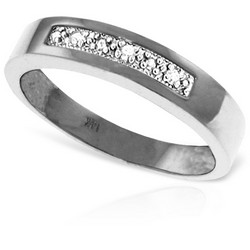 0.02 Carat 14K Solid White Gold Rings Natural Diamond