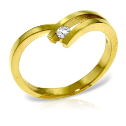 0.1 Carat 14K Solid Yellow Gold Paramour Diamond Ring