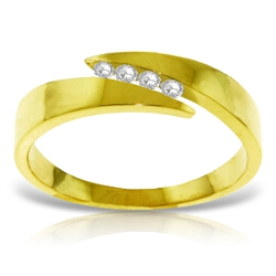 0.12 Carat 14K Solid Yellow Gold Ring Natural Channel Set Diamond